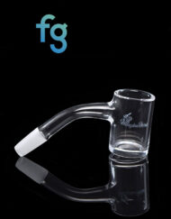 10mm 45 Degree Male 25mm Wide Quartz Banger with Beveled Edge by Honeybee Herb for Heady Glass Dab Rigs available at Fourward Glass Gallery & Smoke Shop in downtown St. Petersburg, Florida