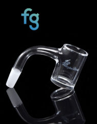 10mm 90 Degree Male 25mm Wide Quartz Banger with Beveled Edge by Honeybee Herb for Heady Glass Dab Rigs available at Fourward Glass Gallery & Smoke Shop in downtown St. Petersburg, Florida