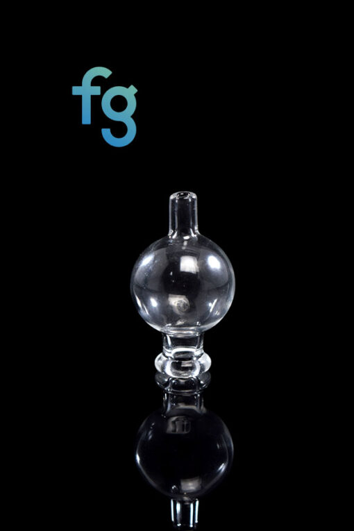 25mm Wide Clear Bubble Cap for Quartz Bangers available at Fourward Glass Gallery & Smoke Shop in downtown St. Petersburg, Florida