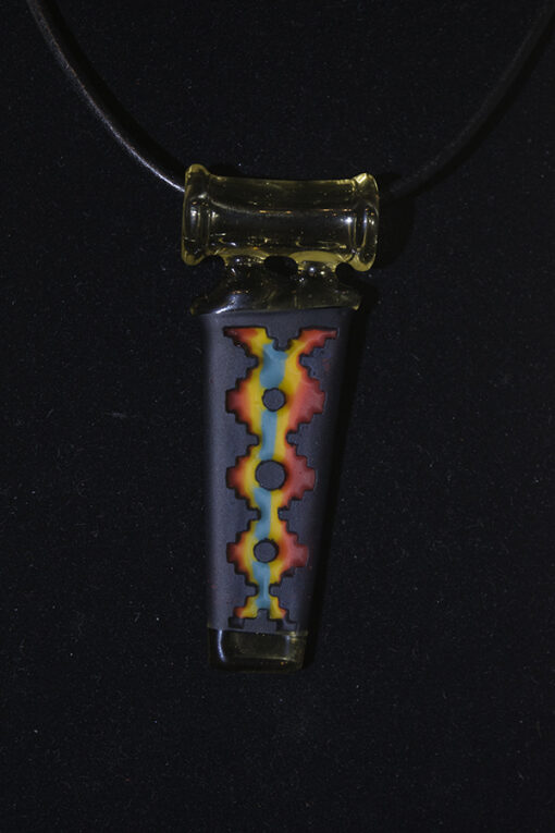 Custom Carved Heady Glass Pendant by Amani Summerday and Bird Dog