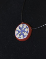 Custom Heady Glass Carved Pendant with Carved Edge by Amani Summerday