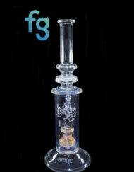 Custom Hand Blown Heady Glass Phoenix Fumed Shorehead Circ Perc Waterpipe Tube by Austin Made Glass Available At Fourward Glass Gallery & Smoke Shop in St. Petersburg, Florida