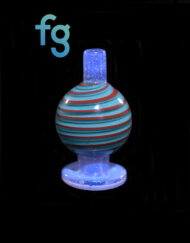 Custom Hand Blown Heady Glass Bubble Cap for Quartz Banger Dab Rig by BamBam Glass available at Fourward Glass Gallery & Smoke Shop in St. Petersburg, Florida