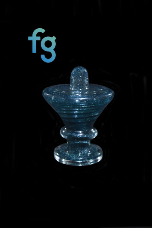 Unobtanium Fritnado Heady Glass Directional Flow Carb Cap Available At Fourward Glass Gallery & Smoke Shop in St. Petersburg, Florida