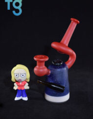 """""""Beth Smith"""" Rick and Morty Inspired Custom Heady Glass Banger Hanger Microlite Vapor Rig by Solo Glass"""