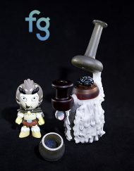 Birdperson Rick and Morty Custom Heady Glass Waterpipe Vapor Rig Banger Hanger by Solo Glass