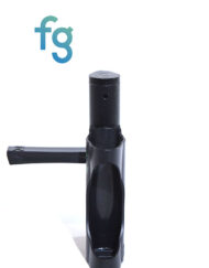 available at Fourward Glass Gallery & Smokeshop in St. Petersburg, FL Ooze - Black EZ Plastic Pipe with Metal Removable Bowl Piece with swing cap and removable poker