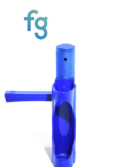 available at Fourward Glass Gallery & Smokeshop in St. Petersburg, FL Ooze - Blue EZ Plastic Pipe with Metal Removable Bowl Piece with swing cap and removable poker