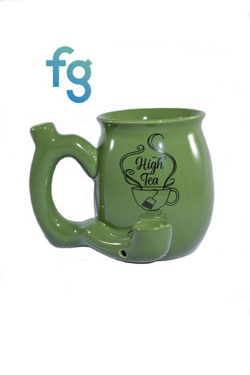 available at Fourward Glass Gallery & Smokeshop in St. Petersburg, FL High Tea Ceramic Mug Pipe