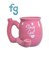 available at Fourward Glass Gallery & Smokeshop in St. Petersburg, FL Stoner Girl Ceramic Mug Pipe
