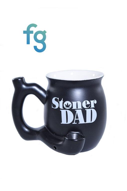 Stoner Gift Ceramic Coffe Tea Mug Dry Pipe - Stoner Dad