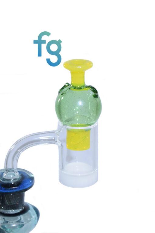 Crippy Custom Hand Blown Heady Glass Bubble Spinner Carb Cap For Quartz Banger on Dab Rig