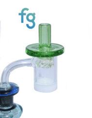 Crippy Custom Hand Blown Heady Glass Flat Top Spinner Carb Cap For Quartz Banger on Dab Rig