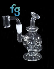 available at Fourward Glass Gallery & Smokeshop in St. Petersburg, FL Custom Hand Blown Scientific Waterpipe 10mm Mini Ball Rig MJ Arsenal Atlas with Quartz Nail Banger
