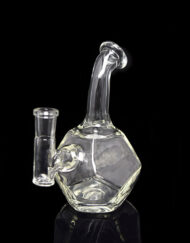 Custom Hand Blown Heady Glass 10mm Dodecahedron Dab Rig By Twitche Glass available at Fouward Glass Gallery & Smoke Shop in Downtown St. Petersburg, Florida