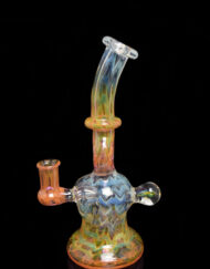 Fume over Clear 10mm Banger Hanger Custom Hand Blown Heady Glass Donut Minitube Dab Rig By Frank Plays With Fire available at Fourward Glass Gallery & Smoke Shop in Downtown St. Petersburg, Florida