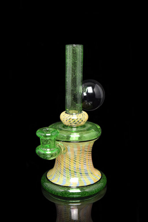 Custom Hand Blown Heady Glass 10mm Fumed Minitube Dab Rig By JD Maplesden & Mike Raman available at Fourward Glass Gallery & Smoke Shop in Downtown St. Petersburg, Florida