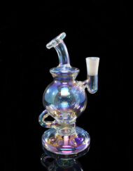 Custom Hand Blown Scientific 10mm Iridescent Collection Atlas Ball Rig Dab Rig with Quartz Banger by MJ Arsenal Available at Fourward Glass Gallery & Smoke Shop in Downtown St. Petersburg, Florida