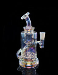 Custom Hand Blown Scientific 10mm Iridescent Collection Ursa Incycler Dab Rig with Quartz Banger by MJ Arsenal Available at Fourward Glass Gallery & Smoke Shop in Downtown St. Petersburg, Florida