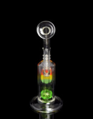 Custom Hand Blown 14mm Scientific Sublime Barrel Bubbler by Diesel Glass available at Fourward Glass Gallery and Smoke Shop in Downtown St. Petersburg, FL