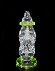 Custom Hand Blown Scientific Glass Fabb Cheesebottle 14mm Dab Rig with Haterade Accents by Hightech Glass available at Fourward Glass Gallery & Smoke Shop in Downtown St. Petersburg, Florida