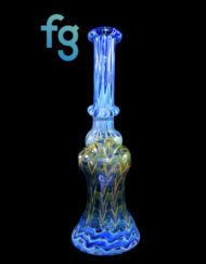 Fumed Custom Hand Blown Heady Glass Mini Push Hole Bubbler By Frank Plays With Fire