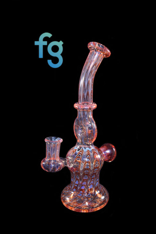 Red Stringer 10mm Banger Hanger Custom Hand Blown Heady Glass Donut Minitube Dab Rig By Frank Plays With Fire