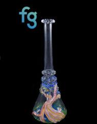 Koi Pond Millie and Bonsai Tree 10mm Banger Hanger Custom Hand Blown Heady Glass Minitube Dab Rig By Murky Waters Studio