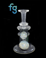 Custom Hand Blown Heady Glass 14mm Illuminati and BluV UV Reactive Color Changing Glass Minitube Dab Rig Waterpipe by Hedman Headies with Fumed Mibs available at Fourward Glass Gallery & Smoke Shop in Tampa Bay, St. Petersburg, Florida