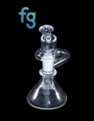 Custom Hand Blown Heady Glass Recycler Waterpipe Dab Rig with 14mm Quartz Banger By Shaggy Glass