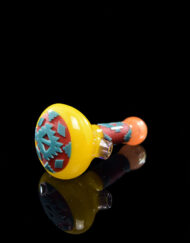 Custom Hand Blown Heady Glass Carved Dry Spoon Pipe By Amani Summerday available at Fourward Glass Gallery & Smoke Shop in Downtown St. Petersburg, Florida