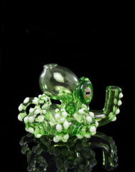 Custom Hand Blown Heady Glass Crippy 10mm Mini Octopus Dab Rig By Pacini Glass available at Fourward Glass Gallery & Smoke Shop in downtown St. Petersburg, Florida