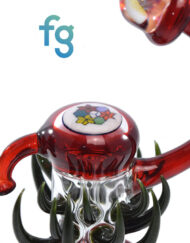Custom Hand Blown Heady Glass 14mm Disk Flip Dab Rig by Freeek Glass available at Fourward Glass Gallery & Smoke Shop in Downtown St. Petersburg, Florida