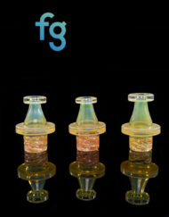 Custom Hand Blown Fumed Heady Glass Spinner Carb Cap for Dab Rigs by Bronx Glass available at Fourward Glass Gallery & Smoke Shop in Downtown St. Petersburg, Florida
