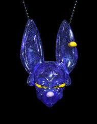 Custom Hand Blown Heady Glass Beerus Dragon Ball Super Pendant By Saiyan Glass