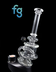 Custom hand Blown Heady Glass Dark Side Of The Moon Minitube Puffco Peak & Peak Pro Attachment By Leo Glass available at Fourward Glass Gallery & Smoke Shop in Downtown St. Petersburg, Florida