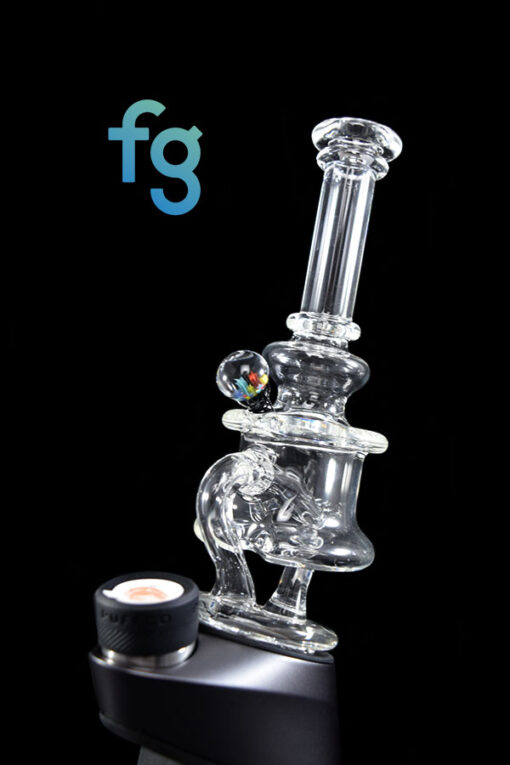 Custom hand Blown Heady Glass Minitube Puffco Peak & Peak Pro Attachment By Leo Glass available at Fourward Glass Gallery & Smoke Shop in Downtown St. Petersburg, Florida