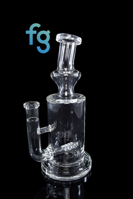 Custom Hand Blown Scientific Glass 14mm Gridline Percolator Tube By Tagle Glass available at Fourward Glass Gallery & Smoke Shop in Downtown St. Petersburg Florida