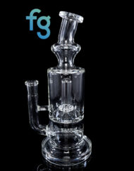 Custom Hand Blown Scientific Glass 14mm Gridline to Showerhead Percolator Tube By Tagle Glass available at Fourward Glass Gallery & Smoke Shop in Downtown St. Petersburg Florida