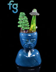 Custom Hand Blown Heady Glass Abduct My Mind Dab Rig By GPS available at Fourward Glass Gallery & Smoke Shop in Downtown St. Petersburg, Florida