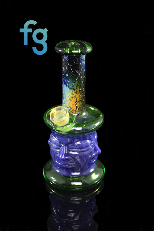 Custom Hand Blown Heady Glass Collective Headspace Dab Rig Minitube By GPS available at Fourward Glass Gallery & Smoke Shop in Downtown St. Petersburg, Florida