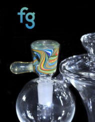 Black Tuna Custom Hand Blown Heady Glass 5-Hole 10mm Male Slide Bowl for Heady Glass Waterpipe available at Fourward Glass Gallery & Smoke Shop in Tampa Bay, St. Petersburg, Florida