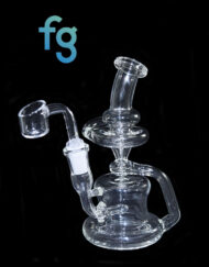 available at Fourward Glass Gallery & Smokeshop in St. Petersburg, FL Custom Hand Blown Heady Glass Recycler Waterpipe with quartz banger nail by Irem Glass