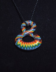 Custom Hand Blown Heady Glass Fun Series Wig Wag Pendant by Natey Love available at Fourward Glass Gallery & Smokeshop in St. Petersburg, FL