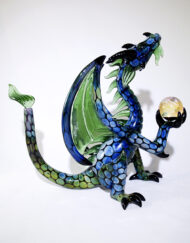 Custom Hand Blown Heady Glass Fumed and Green Stardust Dragon Waterpipe Rig by Scoz Glass available at Fourward Glass Gallery & Smokeshop in St. Petersburg, FL