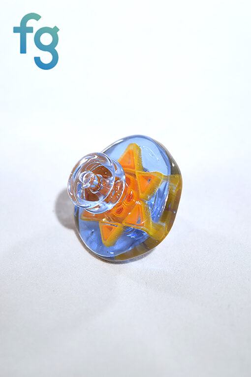 Dreamlab Glass Large Sun Millie Directional Flow Carb Cab for Custom Heady Glass Waterpipe Vapor Rig