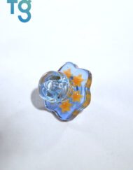 Blue Dream and Raindrop Small Multi Sun Millie Directional Flow Custom Heady Glass Carb Cap by Dreamlab Glass
