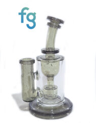 available at Fourward Glass Gallery & Smokeshop in St. Petersburg, FL Custom Hand Blown Parallax CFL Color Changing Heady Glass 4 Seed of Life Perc 14mm Torus Incycler by Fatboy Glass