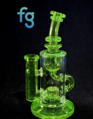 available at Fourward Glass Gallery & Smokeshop in St. Petersburg, FL Custom Hand Blown Heady Glass Slingle Seed of Life Perc 14mm Klein Recycler by Fatboy Glass