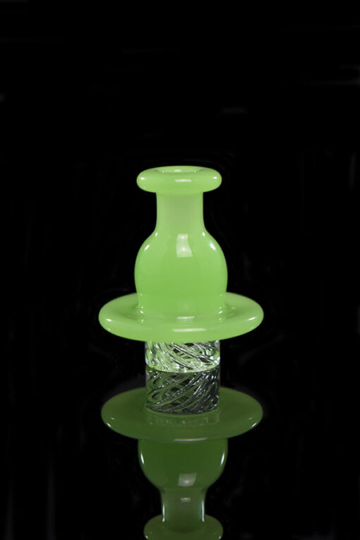 Gordo Scientific Pastel GreenOG V2 Spinner Carb Cap for Heady Glass Dab Rigs available at Fourward Glass Gallery & Smoke Shop in St. Peterburg, Florida